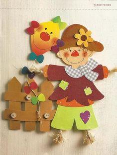 Gela Bukia's statistics and analytics Kids Crafts, Diy And Crafts, Paper Crafts, Autumn Crafts, Autumn Art, Preschool Art, Preschool Activities, Moldes Halloween, Class Decoration
