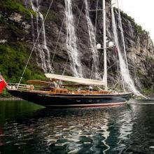WISP is a luxury sail super yacht built in 2014 by Royal Huisman. View similar yachts for Charter around the world. Classic Sailing, Classic Yachts, Sailboat Yacht, Yacht Boat, Yacht Design, Boat Design, Luxury Sailing Yachts, Classic Wooden Boats, Beyond The Sea