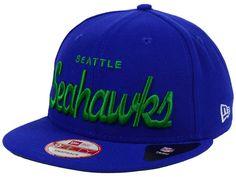 d57e722a688 Seattle Seahawks New Era NFL Retro Script 9FIFTY Snapback Cap