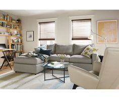 Beau York Sofas With Chaise   Small Space Sectionals   Sectionals   Living   Room  U0026 Board