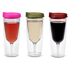 The Original Wine Sippy Cup just got larger to hold more of your favorite wine or bubbly!  The Wine Sippy Cup has a familiar wine glass shape in a spill resistant double wall tumbler, so you can sip your wine in style without worrying about spilling on your outfit.   Perfect for the beach, park, tailgating, or other fast-paced adventures.  Pair it with The Beer Sippy Cup for beer lovers.    14 oz capacity. BPA free.  Made of SAN acrylic plastic. Designed in the USA.