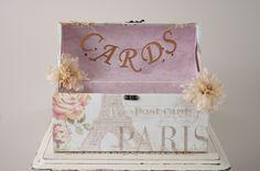 Paris Wedding Card Box - Wedding Card Trunk with Romantic Paris theme. $50.00, via Etsy.