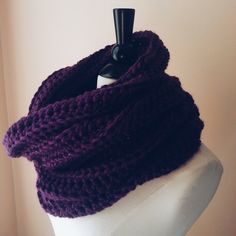 the renton // chunky textured extra warm cowl by OwlsNestCrochet, $40.00