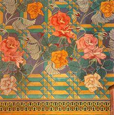 Stanisław Wyspiański (Polish, 1869-1907). Roses. Polychromy in St. Francis of Assisi's Church, Kraków, 1895.