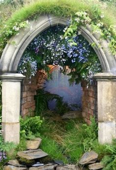 Fairy tale garden path  [perhaps a Secret Garden]