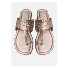 Simple, comfortable, yet so perfect with Indian wear, Kolhapuris make great additions to any bride's footwear lineup. Wedding Wear, Wedding Shoes, Bridal Flats, Blue Wedges, Shoe Wardrobe, Vogue India, T Strap Sandals, Bollywood Celebrities, Indian Wear