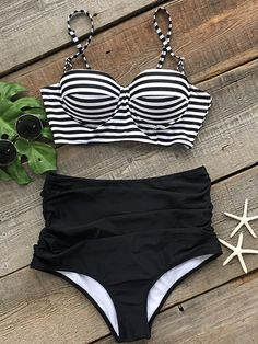 Never underestimate the power of stripe printing.Only $23.99 right now.We love the finish on these bikini briefs.Go check it and get surprised at Cupshe.com !