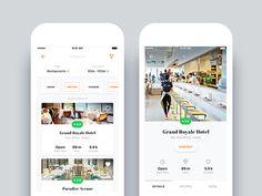 Recipe & Restaurant App - Search & Restaurant Details Page by Nimasha Perera - Dribbble