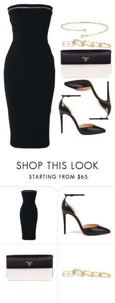 """#14074"" by vany-alvarado ❤ liked on Polyvore featuring Alex Perry, Christian Louboutin, Prada, Kendra Scott and Elsa Peretti"