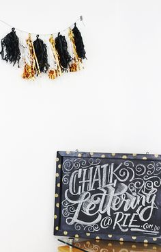 chalk lettering workshop by @magicmaia ♡