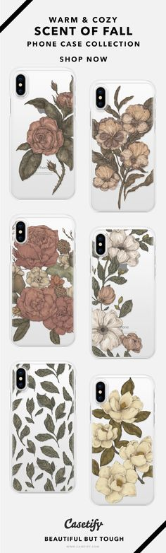 Scent Of Fall - Vintage Floral Phone Case Collection iPhone X/8/8+/7+/7 AND MORE! Shop them here ☝️☝️☝️ BEAUTIFUL BUT TOUGH ✨ - Vintage, Antique, Design, Art, Flower, Floral, Craft, DIY