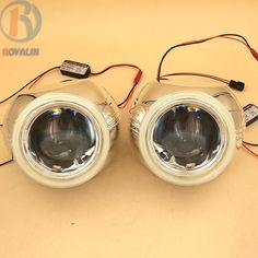 69.99$ Buy now - http://ali3tb.worldwells.pw/go.php?t=32669091390 - 3.0 Metal Bixenon HID Projector Headlight Lenses for Ford S-MAX H1 Lamp H4 H7 Car with 95mm LEDs COB DRL White Angel Eyes Driver