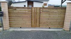 Portail DIY bois metal Pour réaliser nous même le portail