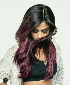 #hair #pinkhair #rosehair #bordeaux #black #lorealparis #colorista #washout #paint #ombré