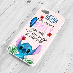 Lilo and Stitch Case for iPhone 4, 4s, Ohana Quote Cover for 5, 5s,... ❤ liked on Polyvore featuring accessories and tech accessories