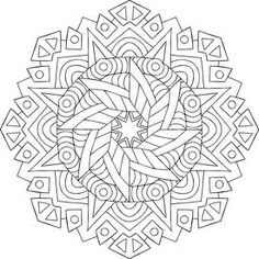 Buddha's Star Coloring Page