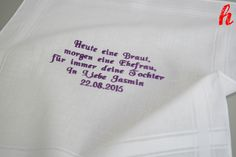 Beispiel für Individuell besticktes Taschentuch