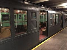 Travel Back In Time Via The New York City Subway: Vintage Subway Car at Transit Museum