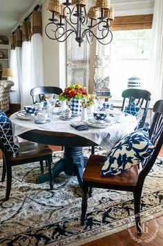 fusion midnight blue dining set makeover. Black Bedroom Furniture Sets. Home Design Ideas