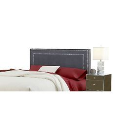 Hillsdale Furniture Amber Fabric Headboard - King - Pewter colored at HSN.com.