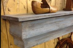Floating Mantle Shelf made from Reclaimed by CenterCreekCreations