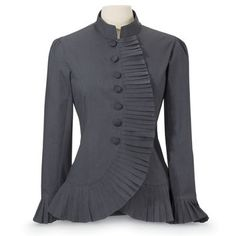 Pleated Ruffle Jacket - Women's Clothing & Symbolic Jewelry – Sexy, Fantasy, Romantic Fashions