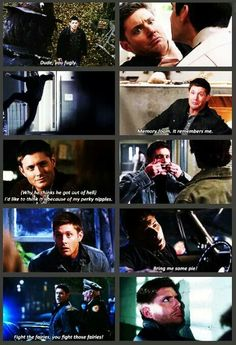 Dean Winchester.. Amazingly good looking and has a sense of humor.. Perfect combo