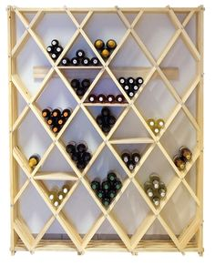 Such a cool design on this wine rack.