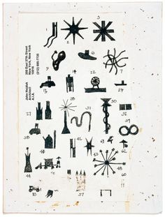 """John Hejduk: Sketches for Bovisa: """"  """"New York architect John Hejduk (1929-2000) was invited to submit a project for the """"Nine Projects for Nine Cities"""" section of theXVIITriennale di Milano in 1986. Inspired by maps and photographs of Milan, his project for the city's Bovisa district was an """"apocryphal architectural vision"""" in which the names of streets, cemeteries, and hospitals served as the basis for an architectural hallucination. Inhabited by mythical characters performing str"""