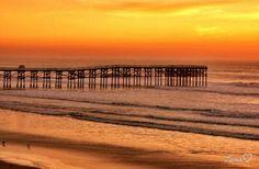 Beach pier at sunset - San Diego, CA