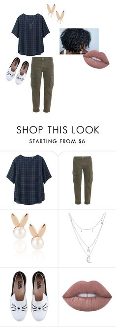 """""""nothing but chill"""" by cici411 on Polyvore featuring Uniqlo, STELLA McCARTNEY, Aamaya by priyanka, Charlotte Russe, Karl Lagerfeld and Lime Crime"""