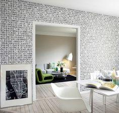 Muster In Schwarz Weiss Wandgestaltung Mit Farbe Einrichtungsbeispiele Wohnzimmer Einrichten Sofa
