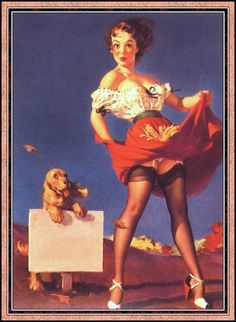 Gil Elvgren pin up art :  Vintage magazine artwork 35 Poster reproduction.