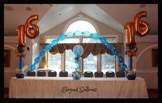 www.elegant-balloons.com Sweet 16 Decorations, Valance Curtains, Balloons, Chandelier, Ceiling Lights, Lighting, Elegant, Home Decor, Classy