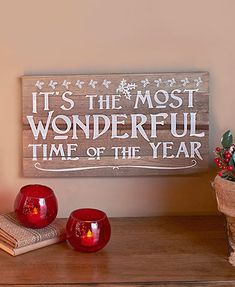 98 festive wood wall hangings wonderful time of year 18 quot w x 9 3 4