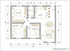 planta baixa casas 3 quartos 70m2 - Búsqueda de Google