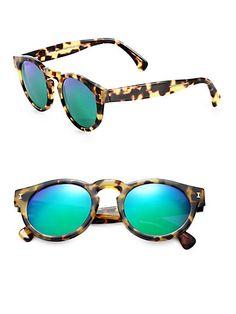 Illesteva – Mirrored Leonard Sunglasses