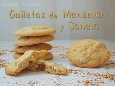 Galletas de Manzana y Canela Apple Desserts, Biscuit Cookies, Sweet Recipes, Biscuits, Cupcakes, Food, Bonbon, Home, Apple Cookies