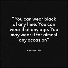 Christian Dior on black