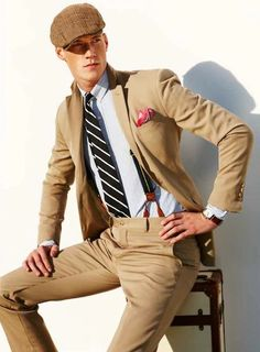kaki suit is the classic color option for spring and summer Polo Ralph Lauren 2013 Campaign