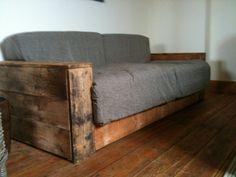 Charmant Reclaimed Wood Sofa