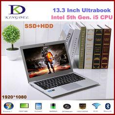 """Intel i5 CPU Ultrabook quinta Gen., 13.3 """"Ordenador portátil, 8 GB de RAM, 128 GB SSD de 1 TB de DISCO DURO, 1920*1080, HDMI, Batería de 8 Celdas, Windows 10"""