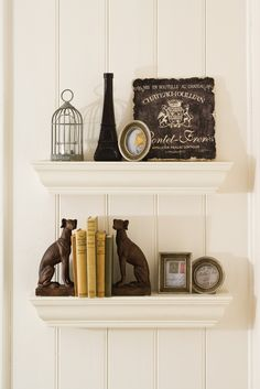 Fill the shelves with much loved novels, ornaments and picture frames  #living #bedbathntable