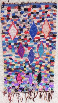 boucherouite rug, moroccan rugs , rag rug, berber tribal art, morocco carpets, wall art