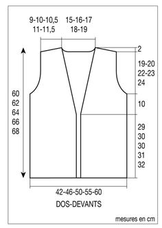 I knit a sleeveless vest for the mid-season - Knitting 01 Kimono Sewing Pattern, Crochet Vest Pattern, Crochet Hat Sizing, Sewing Online, Sewing Baby Clothes, Bohemian Chic Fashion, Couture Tops, Knit Jacket, Overall