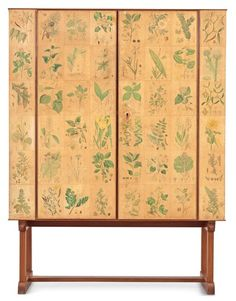 "A Joseph Frank ""flora"" cabinet by Svenskt Tenn ca 1940 Joseph Frank, Living Spaces, Living Room, Minimal Decor, Shades Of White, Mid Century Modern Design, Organic Shapes, Mid Century Furniture, Wedding Tips"