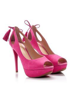Via Uno - Semiabiertos 16276534 Nobuck pink