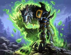 Ancient Secrets - Hearthstone: Heroes of Warcraft Wiki Warcraft Movie, Warcraft Art, Fantasy Creatures, Mythical Creatures, Of Wolf And Man, World Of Warcraft Characters, Heroes Of The Storm, Vampires And Werewolves, Anime Furry