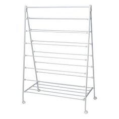 Large capacity A-frame rack features 13 drying bars to hold several garments at once 22 in. x 58 in. White Steel Portable Clothes Drying Rack with A-Frame - The Home Depot