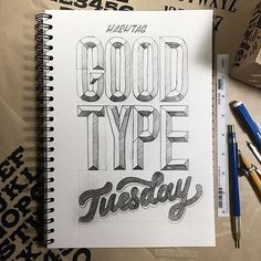 """""""Branded"""" #GoodtypeTuesday! - Letter the brand or name of your favorite art supply. Tag them, tag us and hashtag it #GoodtypeTuesday. - As always, we will repost some of our favorites. And remember, this is all for the fun, encouragement and practice of lettering. Only positive comments and constructive feedback welcome. Multiple entries welcome. All skill levels welcome. Please only enter YOUR work. Entering your work does not make it ours. We give credit where credit is due. Above all…"""